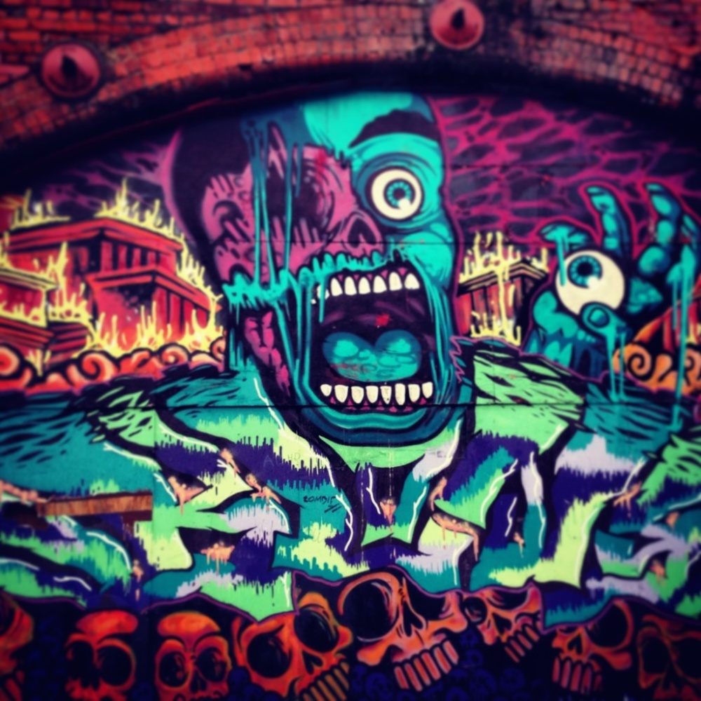 Graffiti Art in Leeds, UK. Photo: iPhone 5.